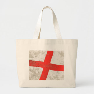 Flag of England and Saint George Grunge Large Tote Bag