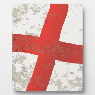 Flag of England and Saint George Grunge Plaque