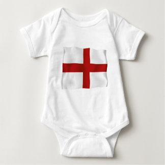 Flag Of England Baby Bodysuit
