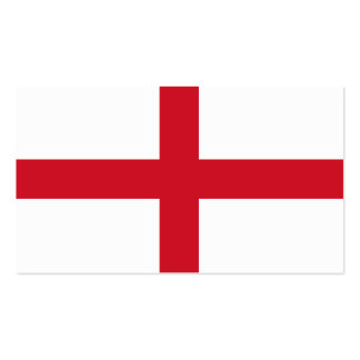Flag of England business cards