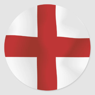 Flag Of England Classic Round Sticker