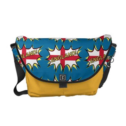 """Flag of England """"KAPOW"""" star Courier Bag"""