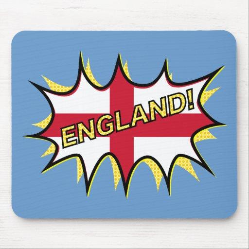 """Flag of England """"KAPOW"""" star Mousepads"""