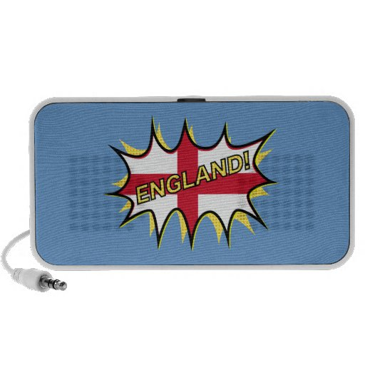 "Flag of England ""KAPOW"" star Notebook Speakers"