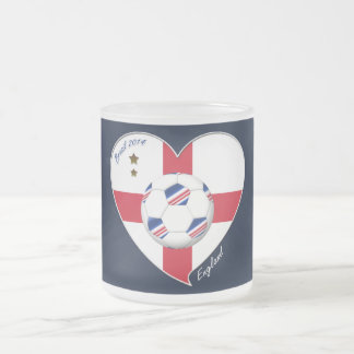 Flag of ENGLAND SOCCER of world 2014 Frosted Glass Mug