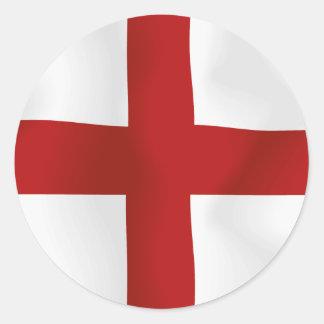 Flag Of England Classic Round Sticker