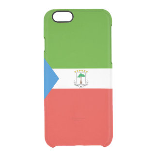 Flag of Equatorial Guinea Clear iPhone Case