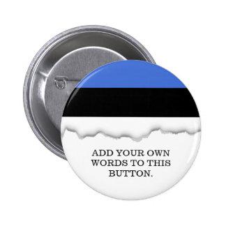Flag of Estonia 6 Cm Round Badge
