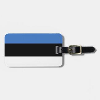 Flag of Estonia Easy ID Personal Luggage Tag