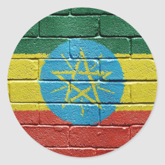 Flag of Ethiopia Classic Round Sticker