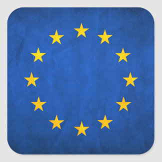 Flag of European Union, EU Flag, Flag of Europe Square Sticker