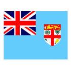 Flag of Fiji Island Postcard