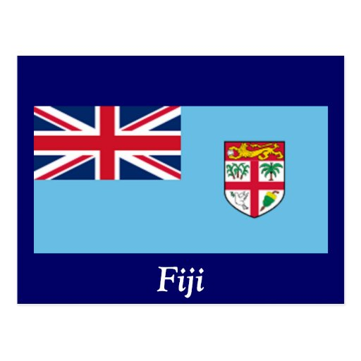 Flag of Fiji Post Cards