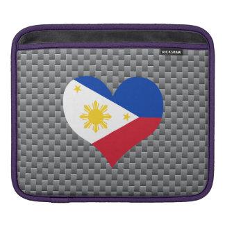 Flag of Filipino on metal background iPad Sleeve