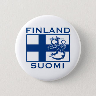 Flag of Finland 6 Cm Round Badge