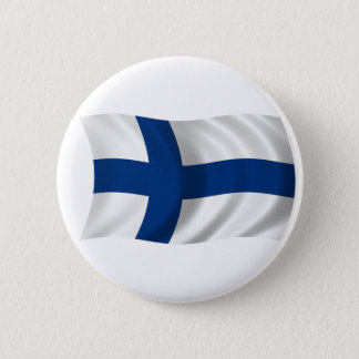 Flag of Finland 6 Cm Round Badge