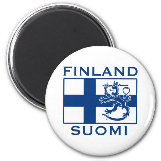 Flag of Finland 6 Cm Round Magnet