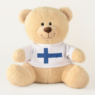 Flag of Finland Blue Cross Suomi Teddy Bear