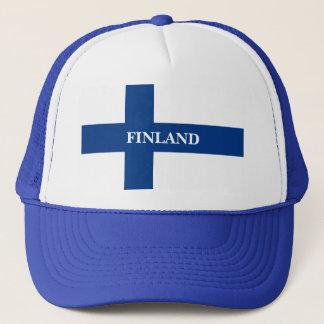 Flag of Finland Blue Cross Suomi Trucker Hat