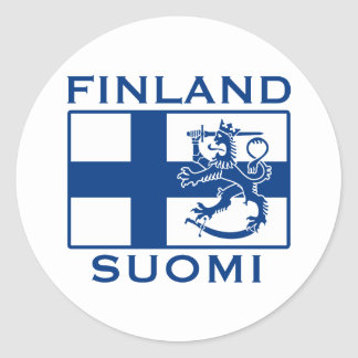 Flag of Finland Classic Round Sticker