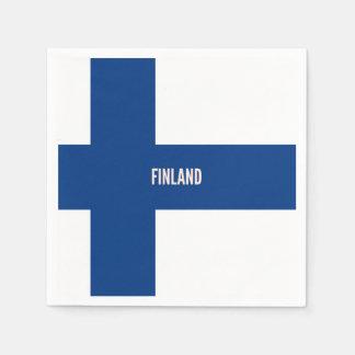 Flag of Finland Disposable Serviettes