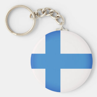 Flag of Finland Key Ring