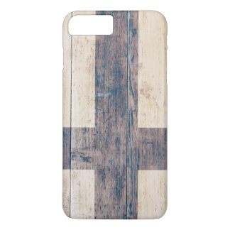 Flag of Finland on Wood iPhone 7 Plus Case