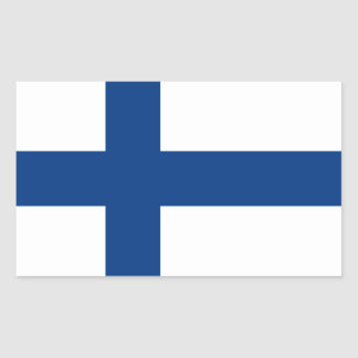 Flag of Finland Rectangular Sticker