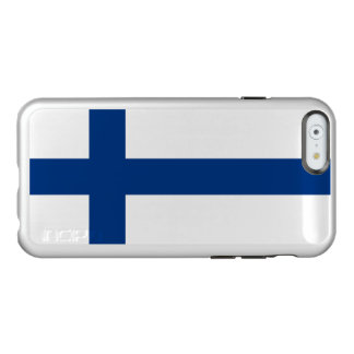 Flag of Finland Silver iPhone Case Incipio Feather® Shine iPhone 6 Case