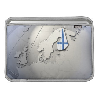 Flag of Finland Sleeve For MacBook Air