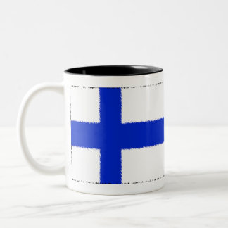Flag of Finland Two-Tone Mug