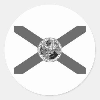 Flag of Florida Posterized Round Sticker