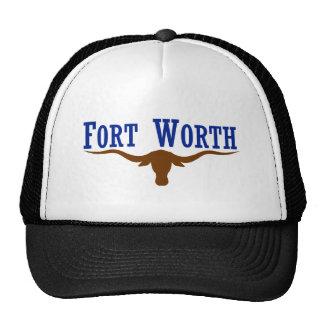 Flag of Fort Worth Texas Mesh Hats