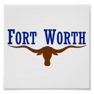 Flag of Fort Worth Texas Posters