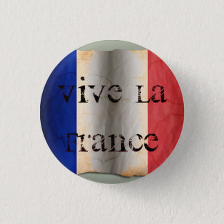 Flag of France 3 Cm Round Badge