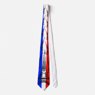 Flag of France and Eiffel Tower Tie