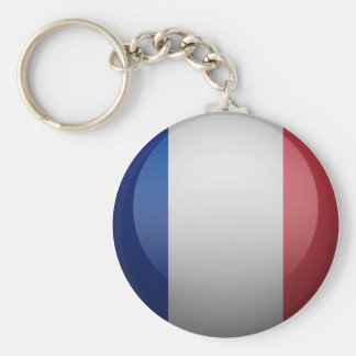 Flag of France Basic Round Button Key Ring