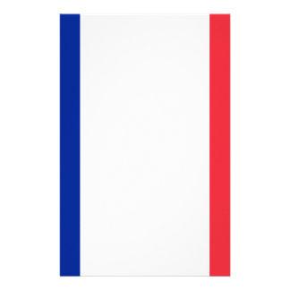Flag of France; French Flag, Drapeau de la France Stationery