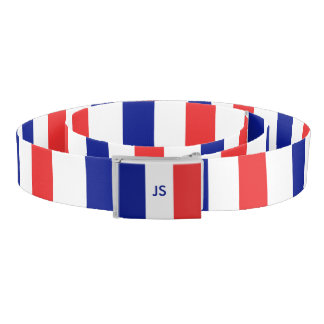 Flag of France French Tricolore Belt