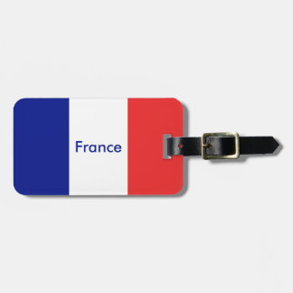 Flag of France French Tricolore Luggage Tag