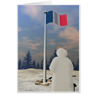 Flag of France Greeting Card