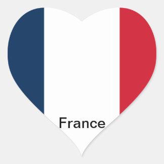Flag of France Heart Sticker