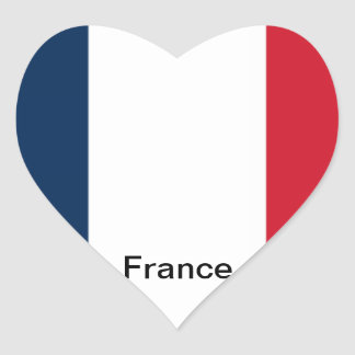 Flag of France Heart Stickers