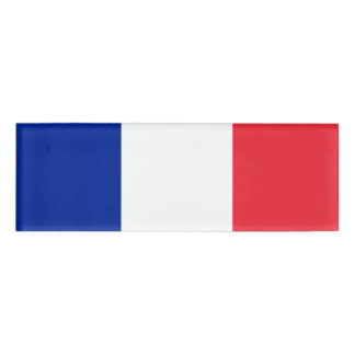 Flag of France Name Tag