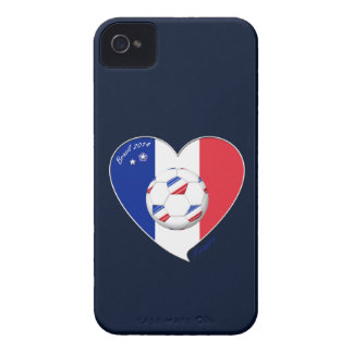 Flag of FRANCE national SOCCER of world 2014 iPhone 4 Case-Mate Case