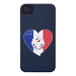 Flag of FRANCE national SOCCER of world 2014 iPhone 4 Case-Mate Case