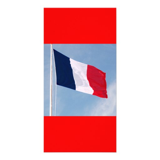 Flag of France Customized Photo Card