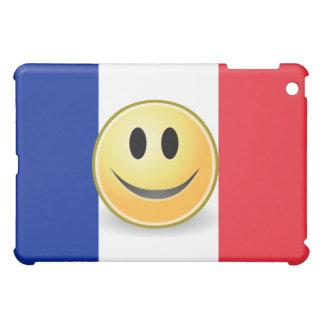 Flag of France Smiley Face  iPad Mini Cover