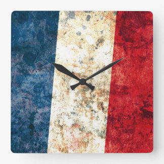 Flag of France Square Wall Clock