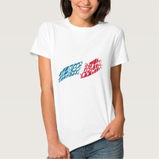 Flag of France style T-Shirt